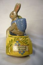 Vaillancourt Folk Art Spring Santa in Car with Rabbit personally signed by Judi image 4