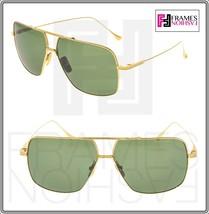 DITA FLIGHT 005 Square 18K Gold Plated Green DRX7805 Titanium Sunglasses... - $356.40