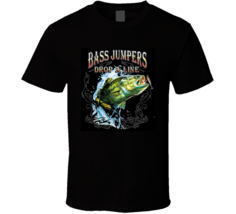 Drop A Line Bass Fishing Jumping Bass T Shirt Outdoors Fish Gift T Shirt - $19.99