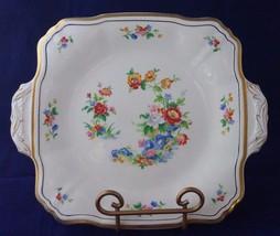 "Alfred Meakin Marigold Astoria Shape Gold Trim 9"" Serving Handled Plate ... - $16.83"