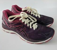 ASICS Gel Nimbus 19 Womens 9.5 Running Shoes Athletic Purple Pink T750N ... - $58.04