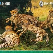 Milton Bradley Big Ben Cheetah Family 1000 Piece Puzzle NEW - $25.90