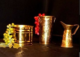 Decor Containers AB 3642 Set of 3 Vintage Brass