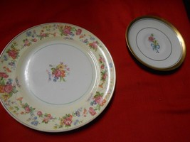 "Beautiful Vintage SALEM ""Dehutante"" China BREAD Plate & FREE WINFIELD Sa... - $5.95"