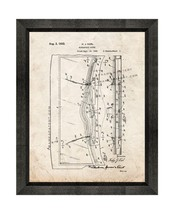 Windshield Wiper Patent Print Old Look with Beveled Wood Frame - $24.95+