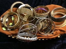 Lot 60+ Vintage Costume Bangle Bracelets - Various Widths, Colors, Styles - $29.55