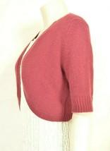 Neiman Marcus sweater M NWT red 100% cashmere shrug bolero cropped $195 new image 2