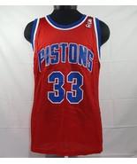 VTG Champion Jersey Detroit Pistons Grant Hill #33 NBA Sz 40 Made USA 90's - $35.59