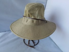 Dorfman Pacific Headwear Men's Hat Cotton Safari Bucket Mesh Chin Strap ... - $26.96