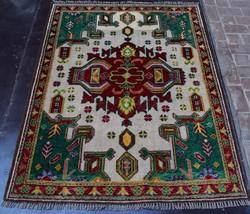 Elegant Afghan hand knotted rug 100% Soft wool / Bohemian decor Decorati... - $359.10