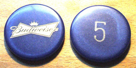 (1) Vintage $5. Budweiser Poker Chip - Bow Tie Chip - $6.95
