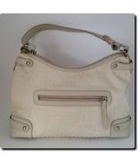 Giani Bernini Off White Signature Fabric with Leather Trim Satchel Bag 1... - $21.15
