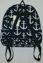 NGIL DDT2828NY Navy and White Colored Quilted Anchor Backpack image 2