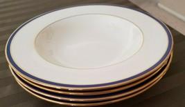 "4 nwt  Lenox urban twilight 8 1/4"" rimmed soup bowls fine china dishes - $59.99"