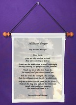 Military Prayer - Personalized Wall Hanging (943-1) - $18.99