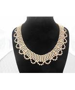 Vintage Rhinestone Necklace Collar Bib Necklace Statement Runway - $47.50
