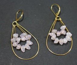 Avon Teardrop Hoop and Chip Earrings Pink 2007 - $15.29