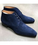 Handmade Men's Dress Formal Suede High Ankle Boot (Size US 11 Only) - $119.99