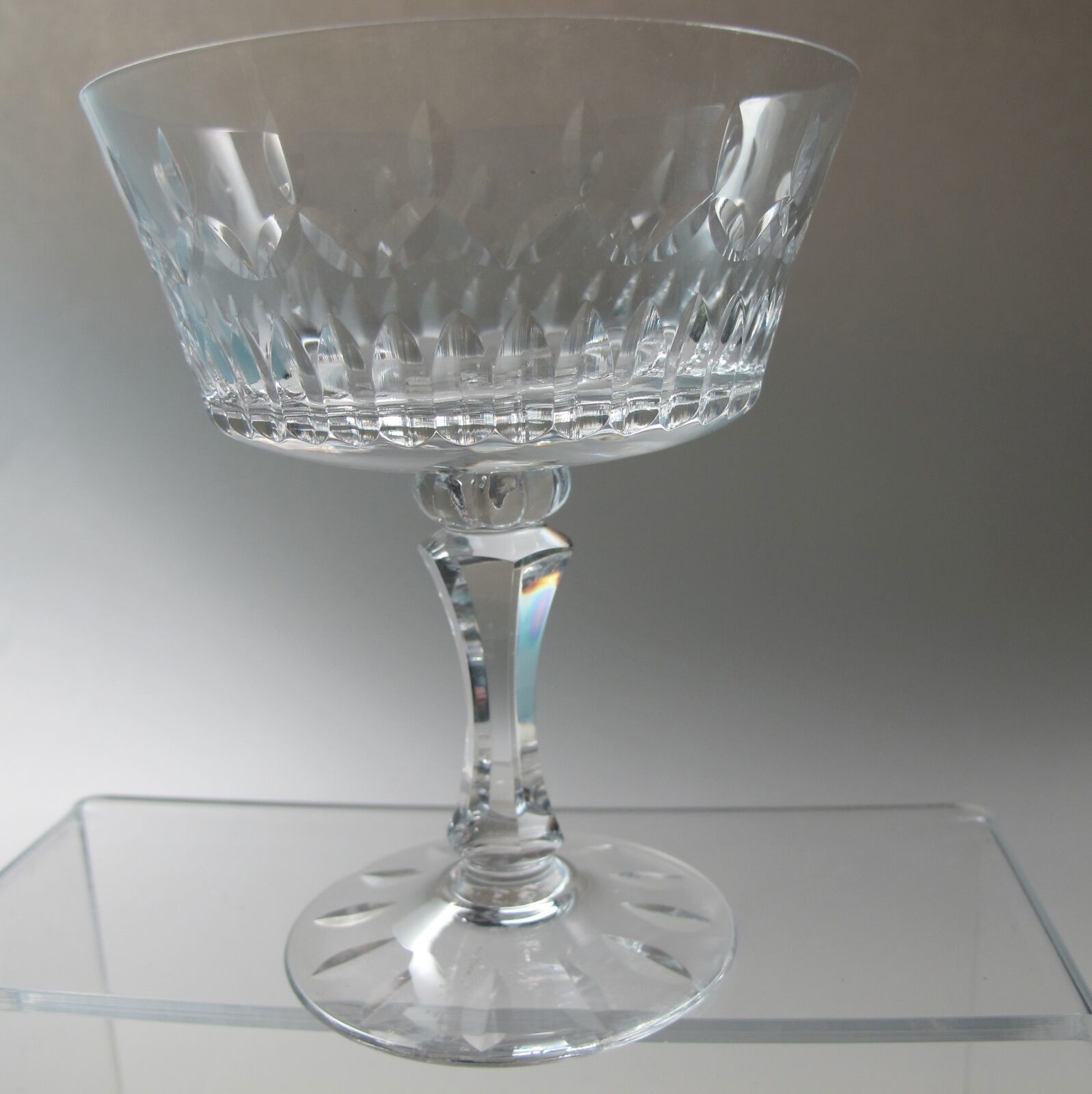 Primary image for  Lenox Cut glass Flourish Crystal dessert Made in USA Mt Pleasant PA mouth blown