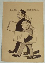 Comic Political Postcard 1900's Italy Cartolina Antica Italia Rare Antique