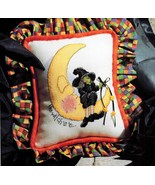 The Witch Is In Moon Halloween Cross Stitch PATTERN CHART ONLY OOP - $3.49
