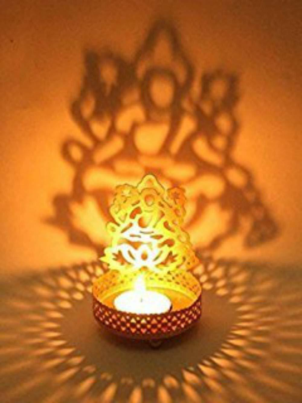 Combo of Ganesha Laxmi Shadow Tealight holder, Spiritual Diwali Gift