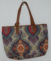 Howards Product Number 68985 Large Shoulder Bag Multi Color Paisley Print image 2