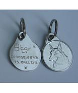 GERMAN SHEPHERD DOG TAG 25MM HAND ENGRAVED TAG. - $1.29+