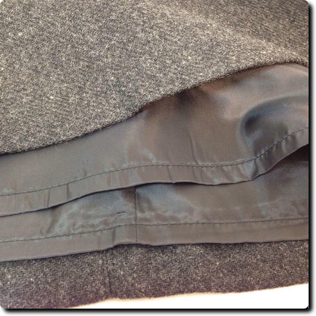 Old Navy Gray Wool Blend Button Panel Skirt Junior 1