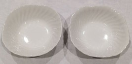 "Johnson Brothers White Regency Swirl 6 1/8"" Square Cereal Bowls (Set of 2) - $11.70"
