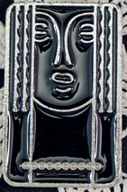 """Charles of the Ritz Art Deco """"Ritz Lady"""" abstract pewter & black lacquer... - $19.99"""