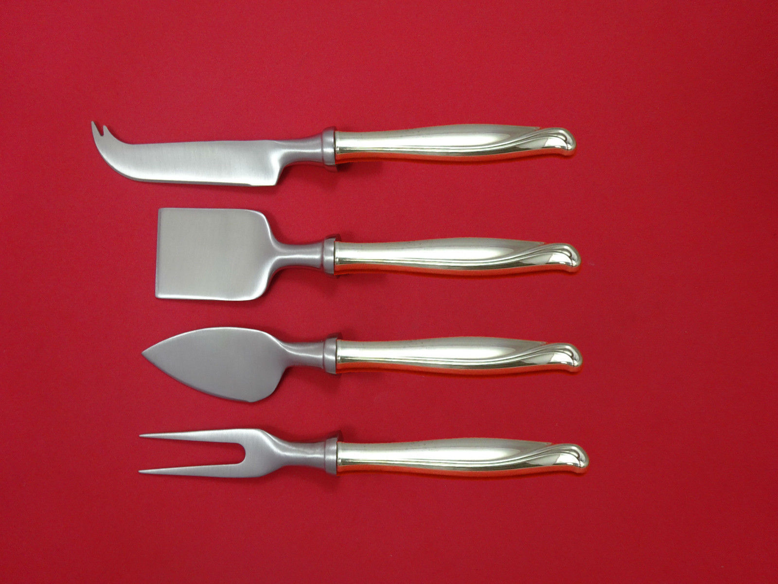 Spring Bud by Alvin Sterling Silver Cheese Serving Set 4 Piece HHWS  Custom