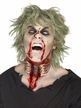 Throat Wound Halloween Fake Prosthetic Latex Scar Fancy Dress Zombie Make Up - $21.81