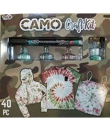 Tulip Tie Dye Camo Craft Kit, (Army Green, Green and Rust Brown), 40 Pieces - $18.95