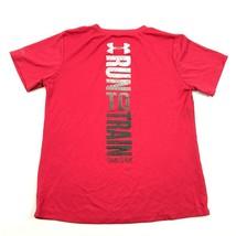 Under Armour Women's Pink Shirt Size L Semi-Fitted HeatGear Fitness RUN ... - $15.81