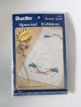 Bucilla #63317 Stamped Cross Stitch Dresser Scarf Doves - $9.74