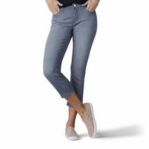 Lee Jayla Denim Capri Size 16 Gray Modern Series Mid Rise Button Detail At Hem - $23.99