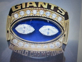 1990 New York Giants 18 Karat Gold Plated(Taylor) Champions Fan RING--RB12-1 - $19.00