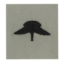 ARMY EMBROIDERED BADGE: BASIC FREEFALL EMBROIDERED WITH BLACK THREAD ON ABU - $12.85