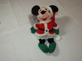 "The Disney Negozio Mini Bean Borsa Santa Minnie 7 "" Natale Usato - $16.07"