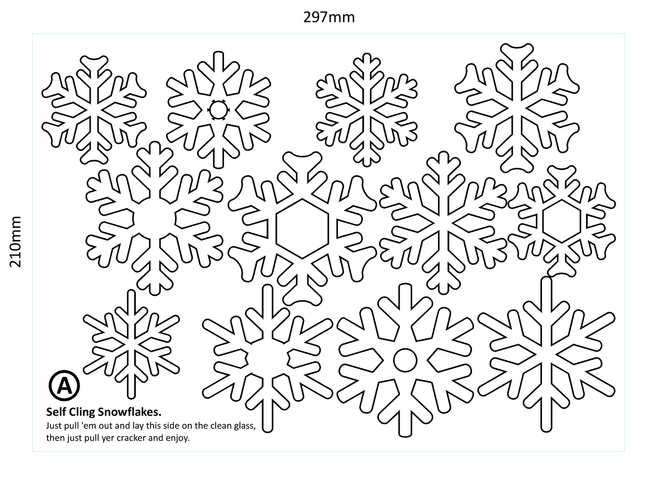 36 Shaped White Vinyl Christmas Snowflakes Window Removable Decals Decorations