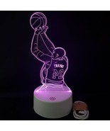Kobe Lakers Nba #24 Color Change 3D LED Light Desk Lamp Shooting Acrylic... - $21.77