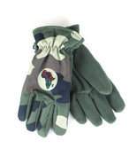 """African Inspired Gloves, Leather Badge, Size -9"""" Large,10"""" XL- Black, Ca... - $60.00"""