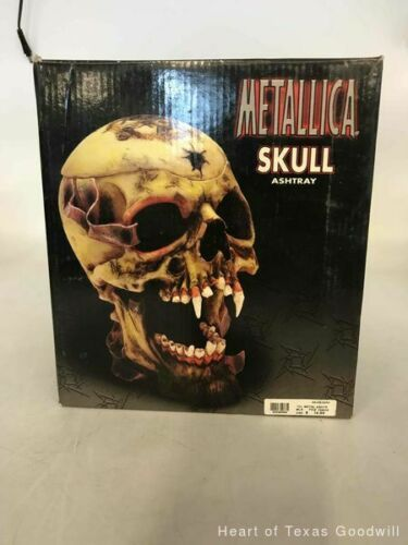 2002 Metallica Rare Pushead Skull Ashtray Statue Bust Stash Original Box IOB