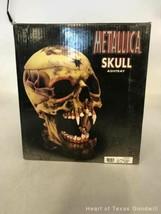 2002 Metallica Rare Pushead Skull Ashtray Statue Bust Stash Original Box IOB image 1