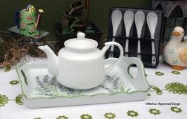 TEA TIME 6 PIECE PORCELAIN TEA SET –HAVE YOURSELF A DELIGHTFUL, JOLLY GO... - $39.95