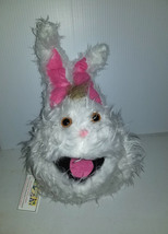 F3 * Professional White w/ Brown Tuft Muppet Style Ventriloquist Bunny Puppet - $15.00