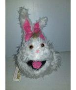 F3 * Professional White w/ Brown Tuft Muppet Style Ventriloquist Bunny P... - $15.00