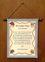 The Cowboy's Prayer - Personalized Wall Hanging (140-1) - $19.99