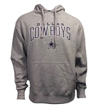 Dallas Cowboys Authentic NFL Embroidered L Gray Pullover Hoodie Sweatshirt - $54.00